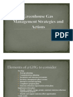 Greenhouse Gas Management Strategies and Actions