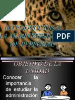 INTRODUCCION A LA ADMINISTRACION DE PERSONAL