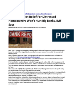 IMF Says Mortgage Relief Program Would Not Hurt the Big Banks