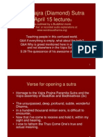 Vajra (Diamond) Sutra April 15, 2011 Lecture