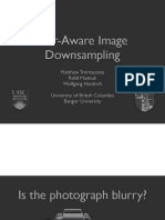 Blur-Aware Image Downsampling with notes