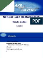 Lake Savers Results Update Fall 2010