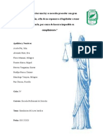 Simulacion del Acto Juridico - Carrera de Derecho IV