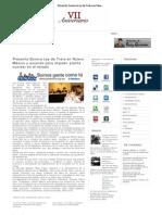 15-04-11 Presenta Sonora Ley de trata de en Nuevo México y acuerdo para impedir planta industrial en el Estado