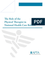 APTA article on PT and reform