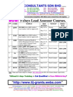 TIJ Rev A - 8 Types of 5-Days Lead Assessor Courses