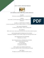 Reglas de Cortesía y Relaciones Humanas