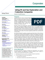 Oil and Gas Sector Exploration and Production Rating Methodology