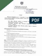Conurs pentru funcția de consultant principal la Ministerul Sănătății