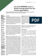RIPASA score for diagnosis of AA