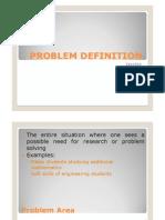 Problem Definition[1]