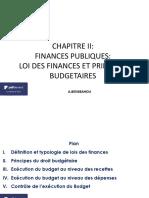 Chapitre II- Lois Des Finances Et Principes Budgetaires