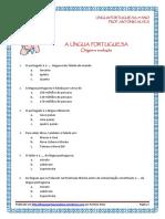 História e Evolução da Língua Portuguesa - escolha múltipla (blog9 10-11)