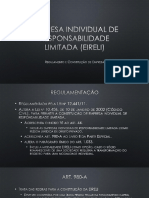 Empresa Individual de Responsbilidade Limitada - Regulamentação e Constituição de Empresa