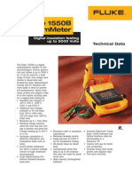 Fluke 1550B Megohmmeter Data Sheet