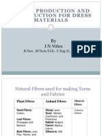 Fabrics Production and Construction for Dress Materials