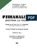 Psihanaliza - Doctrina lui Freud