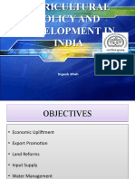 Agricultural Policy and Development in India