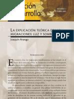 Arango (2003) inmigración y mercados duales