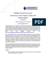 Call for Expressions of Interest  to the 2011 AYF & Study Visit ( May, Jakarta, Indonesia)