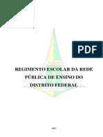 Regimento Escolar Rede Publica de Ensino Df