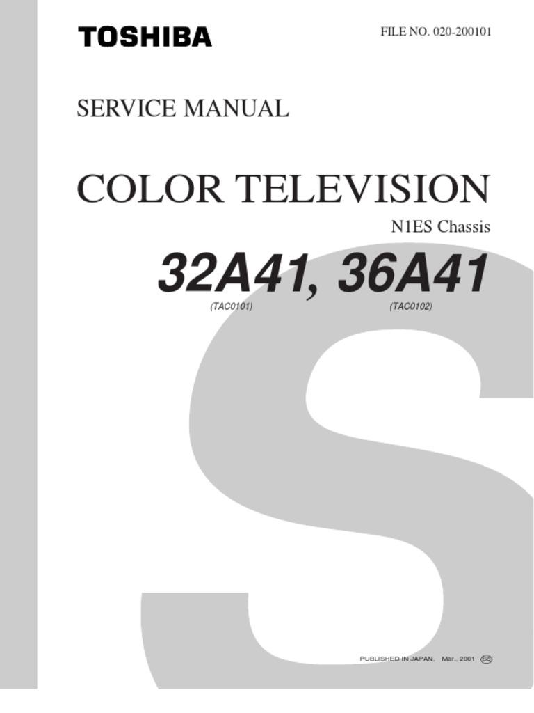 Vemag service manual array toshiba 32a41 36a41 n1es tac0101 tac0102 service manual cathode rh scribd com fandeluxe Images