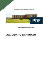 Automatic Car Wash System CONSUMER BEHAVIOUR