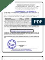 CONSEJO COMUNAL CARTA AVAL DE USO Y FUNCIONAMIENTO