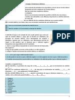 Ficha formativa nº 1 – 6º teste – Energia e fenómenos elétricos