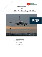 intern report on Biman bangladesh airlines