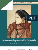 Mujeres en la procuración de justicia