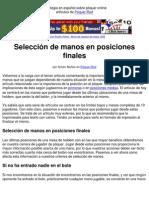 Poker Español Estrategia Seleccion Manos Posiciones Finales En Poquer-Red