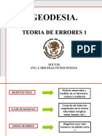 2 DO EX GEODESIA. TEORÍA DE ERRORES.