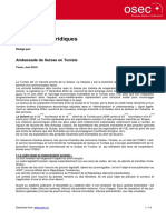 Tunisie- Dispositions Juridiques - Amb Suisse