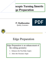 1.4 Design Concepts Turning Inserts - Edge Preparation