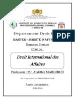 Droit International Des Affaires (Cour Complet)