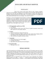 Postulancy Classes