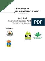 Reglamento CXM Trail Alhaurín de La Torre 2022