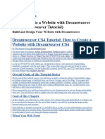 How to Create a Website with Dreamweaver CS4