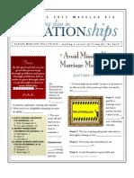 Relationships 6 Matt 19-4-6 Handout 041711