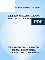 Actividad de Aprendizaje 19 Evidencia 7 Taller Talking About Logistics Workshop
