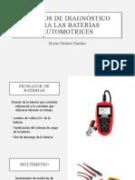 EQUIPOS DE DIAGNÓSTICO PARA LAS BATERÍAS AUTOMOTRICES