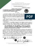 COMUNICADO 468/2011 DEL SUPREMO CONSEJO DE MEXICO