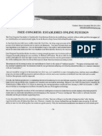 Free Congress Petition with In Defense of Freedom