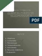 Plan de Formacion Para Un Teleoperador