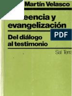 Velasco, Juan Martin-Increencia y Evangelización