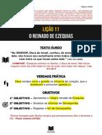 SUBSÍDIOS LIÇÃO 11 - O REINADO DE EZEQUIAS - CANAL TEXTO ÁUREO