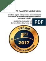 Prêmio Professor Inovador Educação Infantil 2017 Simone Ischkanian