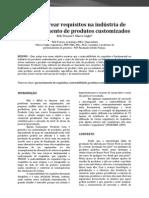 Como rastrear requisitos na indústria de desenvolvimento de produtos customizados