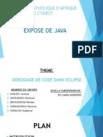Expose de Java (Entrainement)